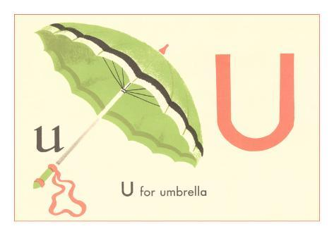 U is for Umbrella Art Print