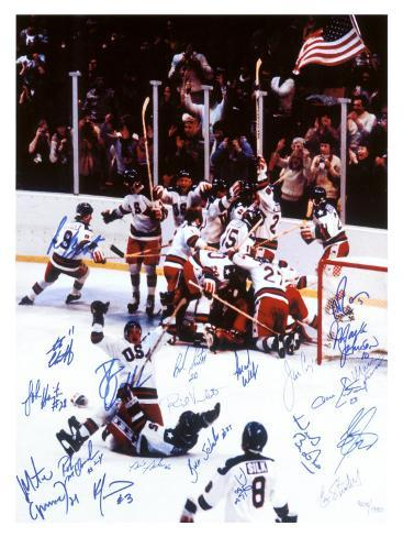 U.S. Champion Hockey Team, c.1980 Giclee Print