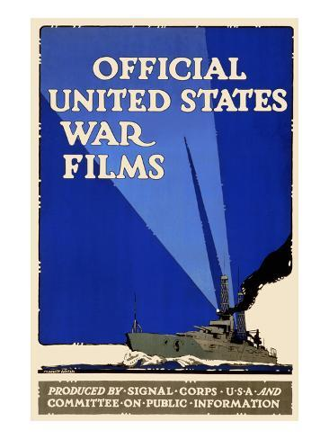 Official United States War Films Art Print