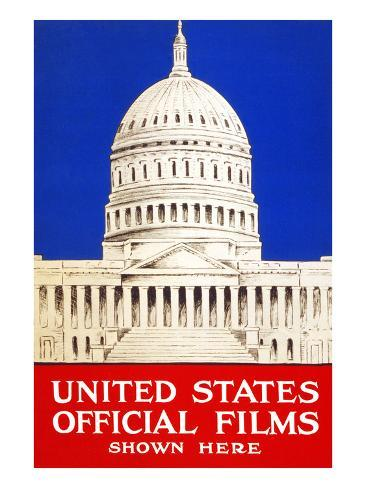 United States Official Films Shown Here Art Print