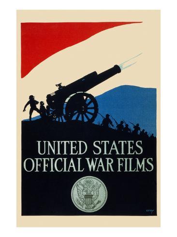 United States Official War Films Art Print