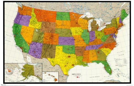 U.S. Map Poster