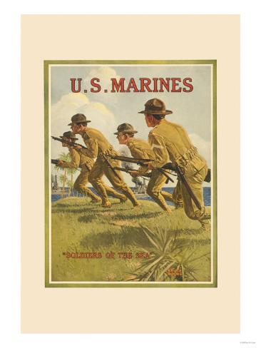U.S. Marines, Soldiers of the Sea Stampa artistica