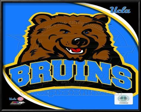 UCLA Bruins Team Logo Lamina Framed Art Print