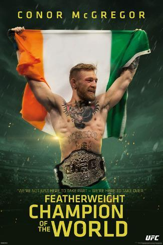 UFC- Conor Mcgregor Featherweight Champion Poster