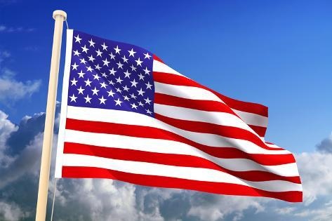 Usa Flag (Clipping Path) Photographic Print
