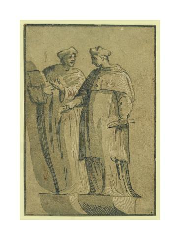 The Cardinal and the Doctor, Between 1500 and 1530 Lámina giclée