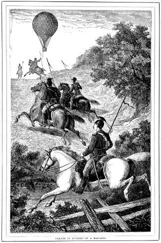 Uhlans in Pursuit of a Balloon, Franco-Prussian War, 1870-1871 Giclee Print
