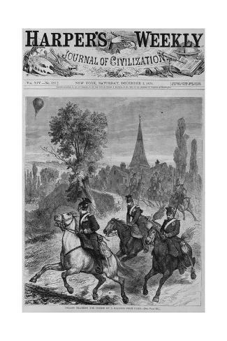 Uhlans Tracking the Couse of a Balloon from Paris. See Page 770. Giclee Print