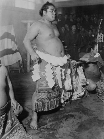 Uichiro Hosokawa, Champion Japanese Sumo Wrestler from 1915-1923 Photo