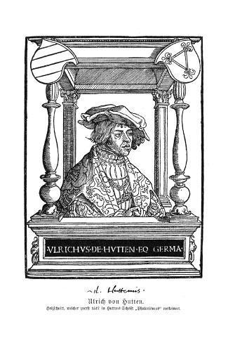 Ulrich Von Hutten Stampa giclée