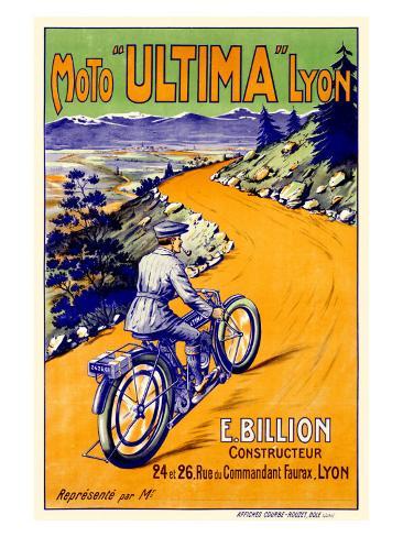 Ultima Moto Lyon Motorcycle Stampa giclée