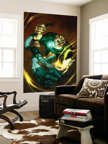 Ultimate Fantastic Four No.51 Cover: Mr. Fantastic and Thanos Wall Mural