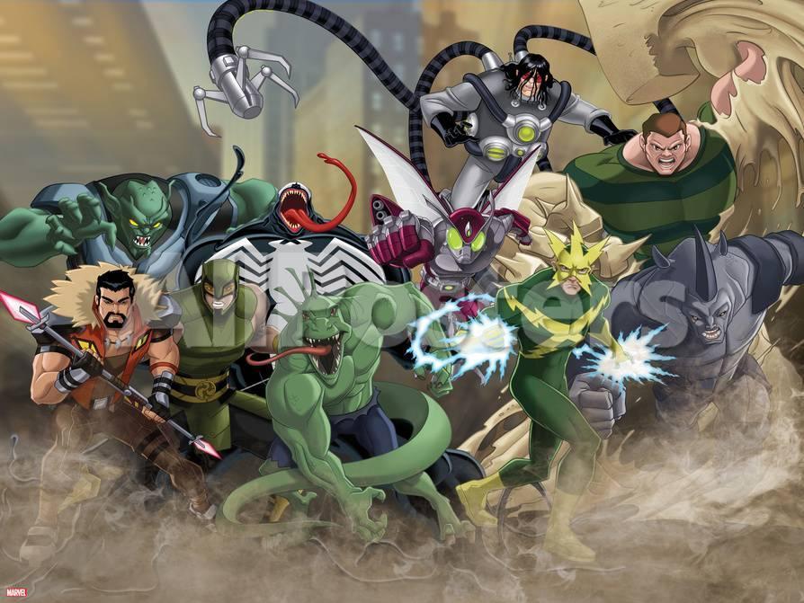 Ultimate Spiderman Villains Art Posters Allposters Com