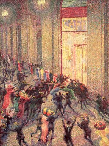 Riot in the Galleria, 1909 Lámina giclée