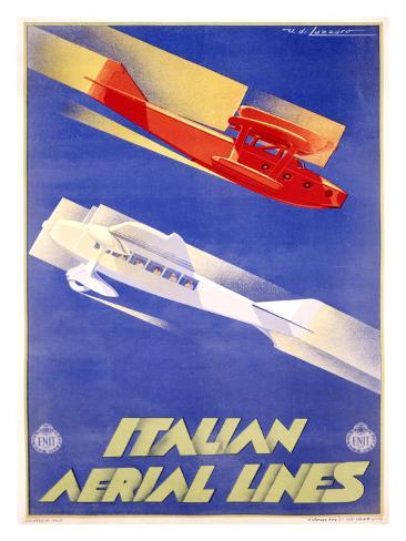 Italian Aerial Lines Giclee Print