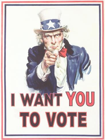 uncle sam i want you to vote prints at allposters com