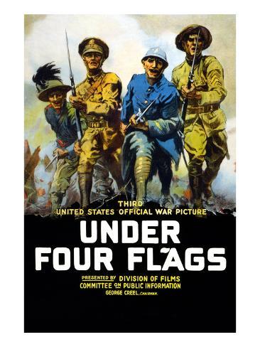 Under Four Flags Premium Giclee Print