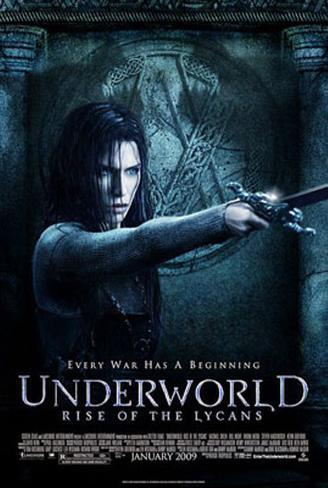 Underworld - Rise of the Lycans Dubbelsidig poster