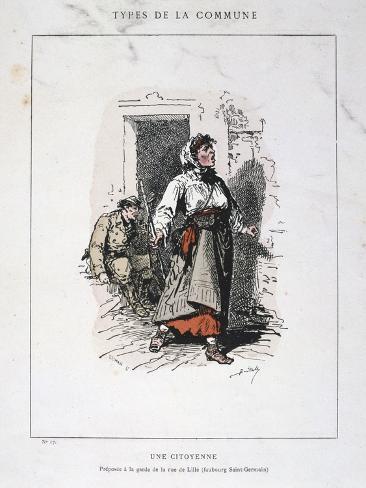 Une Citoyenne, Paris Commune, 1871 Giclee Print