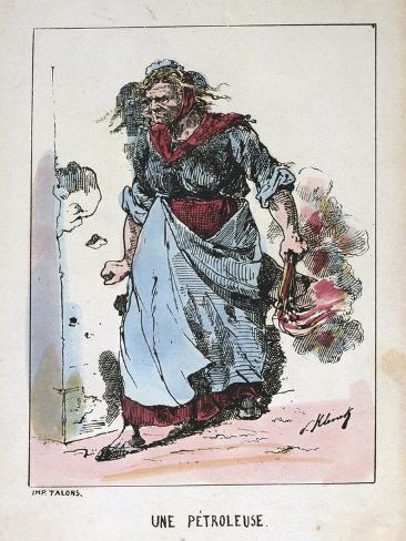 Une Petroleuse, Paris Commune, 1871 Giclee Print