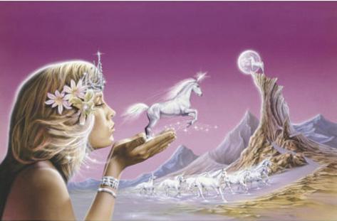 Unicorn Princess (Fantasy Art) Poster Print Poster