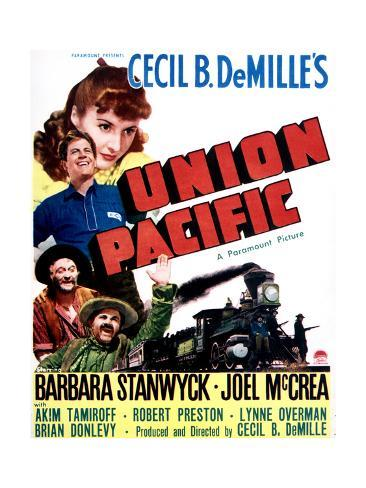 Union Pacific - Movie Poster Reproduction Stampa artistica