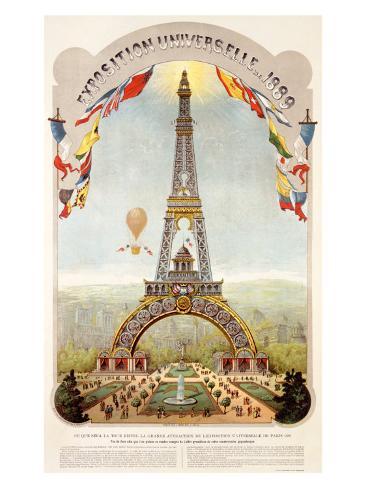 Universal Exposition Fair, Paris, c.1889 Giclee Print