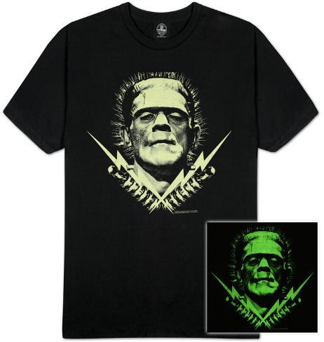 Universal Monsters - Glow in the Dark Frank Bolts T-Shirt