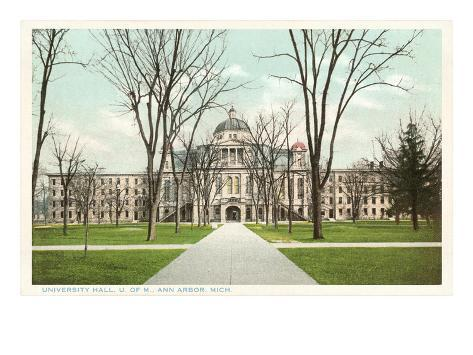 University Hall, Ann Arbor, Michigan Art Print