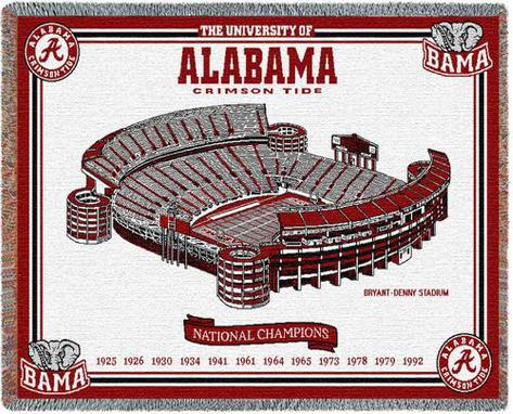 University of Alabama, National Champs Throw Blanket