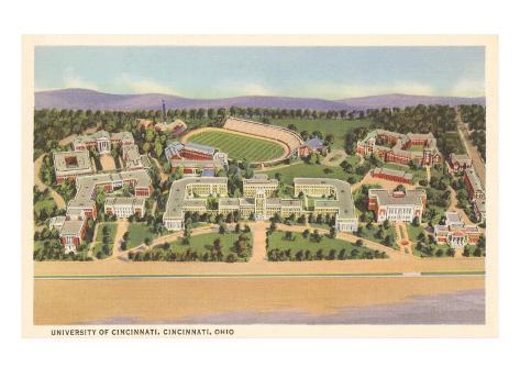 University of Cincinnati, Ohio Art Print