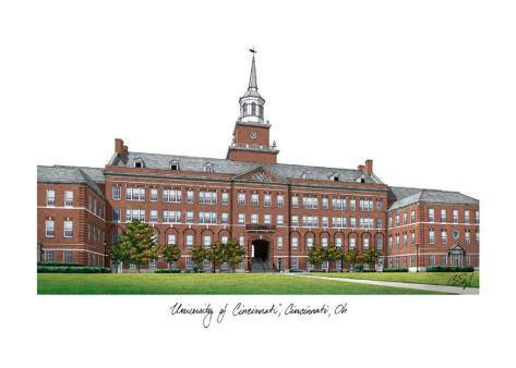 University of Cincinnati Art Print