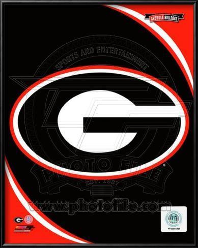 University of Georgia Bulldogs Team Logo Lamina Framed Art Print