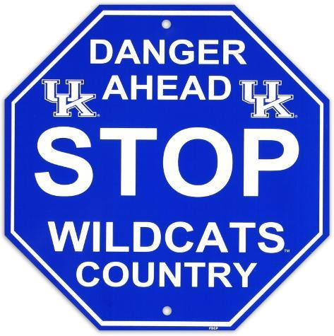 University of Kentucky Stop Sign Wall Sign