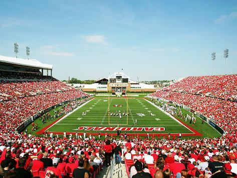 University of Louisville - Louisville Cardinal Stadium Stretched Canvas Print
