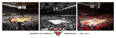 University of Louisville - Special Edition: Lousiville's Freedom Hall Stretched Canvas Print