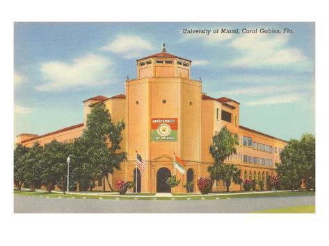 University of Miami, Coral Gables, Florida Art Print