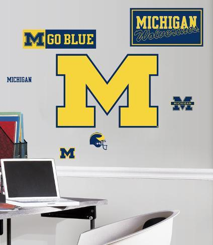 University of Michigan Peel & Stick Giant Wall Decals Wall Decal