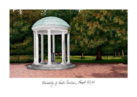 University of NC Chapel Hill Art Print