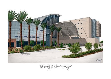 University of Nevada Las Vegas Art Print