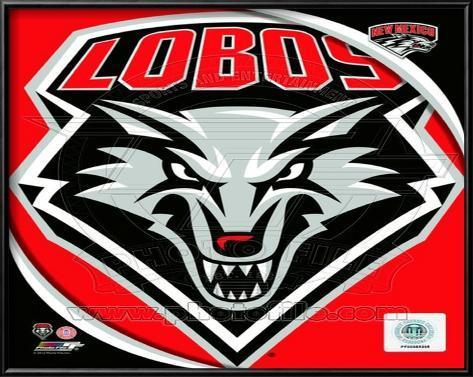 University of New Mexico Lobos Team Logo Lamina Framed Art Print