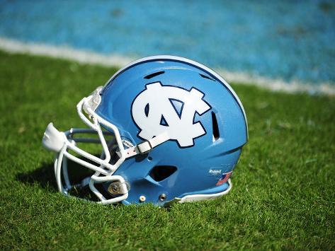 University of North Carolina: North Carolina Tar Heels Football Helmet Photo