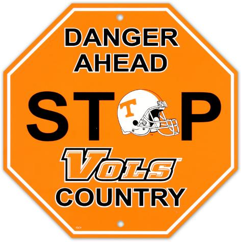 University of Tennessee Stop Sign Wall Sign