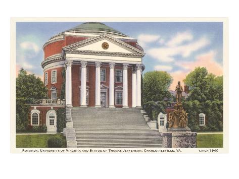 University Rotunda, Charlottesville, Virginia Art Print