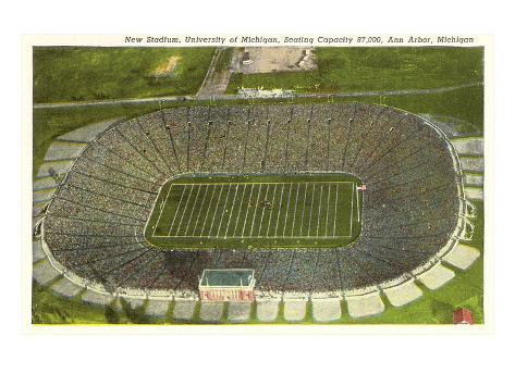 University Stadium, Ann Arbor, Michigan Art Print