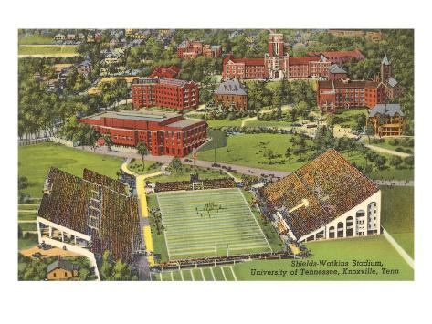 University Stadium, Knoxville, Tennessee Art Print
