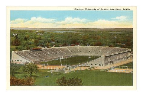 University Stadium, Lawrence, Kansas Art Print