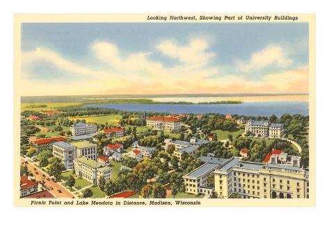 University, Views of Madison, Wisconsin Art Print