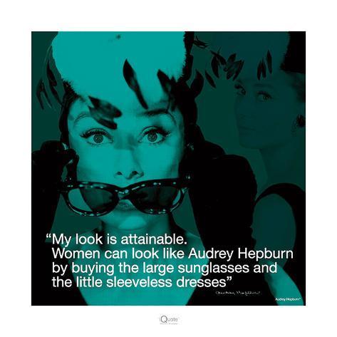 Audrey Hepburn – Attainable Stampa artistica